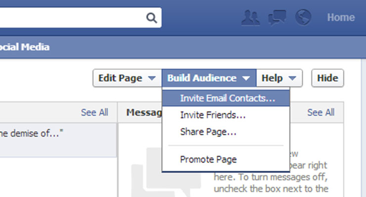 facebook build audience