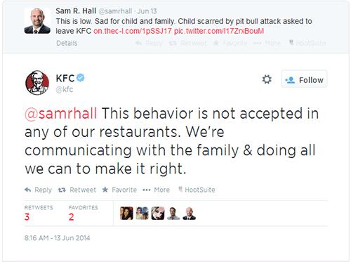 kfc responds on twitter
